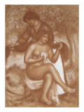 La coiffure ou La toilette de la baigneuse Giclee Print by Pierre-Auguste Renoir