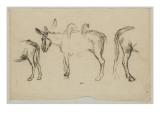 Trois des poiur le Matin (1856) Giclee Print by Jean-François Millet