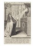 La vénérable mère Anne de Jésus Giclée-tryk af Hieronymus Wierix
