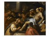 La Mort de Sénèque Lámina giclée por Luca Giordano