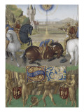 Le Livre d'Heures d'Etienne Chevalier : Les Suffrages des Saints, Saint Paul sur le chemin de Damas Giclee Print by Jean Fouquet