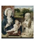 La Vierge et l'Enfant avec Saint Bernard Giclée-Druck von Joos Van Cleve
