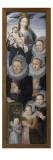 Deux panneaux : Donatrice en prière et saint Nicolas Giclee Print