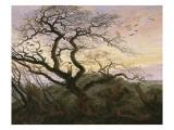 L'Arbre aux corbeaux Gicléedruk van Caspar David Friedrich