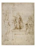 La Vierge et l'Enfant en trône entre saint Sébastien et saint Roch Reproduction procédé giclée par Raffaello Sanzio