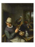 Le Fumeur dans une taverne Giclée-Druck von Adrien Van Ostade