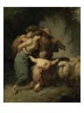 Le retour du troupeau Reproduction procédé giclée par Jean-François Millet
