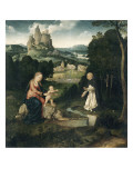 The Virgin and Child with a Dominican with His Heart Giclée-Druck von Joos Van Cleve