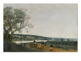 Le Char &#224; boeufs, paysage br&#233;silien Giclee Print by Frans Post