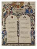 Le d&#233;calogue r&#233;publicain Reproduction proc&#233;d&#233; gicl&#233;e