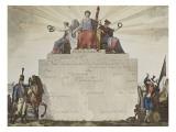 Billet de Congé absolu délivré aux militaires sous la Révolution Giclée-Druck von Antoine Charles Horace Vernet