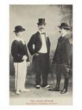 The Three Elton. Humoristische Feinkomische Akrobaten Giclee Print