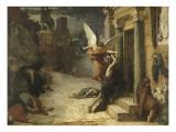 La Peste à Rome Lámina giclée por Jules Elie Delaunay