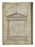 La Déploration du Christ dans un encadrement couronné d'un pignon Giclee Print by Jacopo Bellini