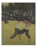 La lutte bretonne Giclee Print by Paul Serusier