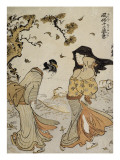 La bourrasque d&#39;automne Giclee Print by Torii Kiyonaga