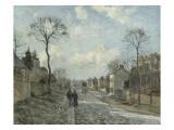 La route de Louveciennes Giclee Print by Camille Pissarro