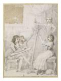 La leçon de dessin et de musique Giclee Print by Richard Cosway