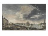 Le port de Bordeaux Giclée-Druck von Claude-Joseph Vernet