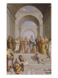 L'Ecole d'Aths Giclée-tryk af Raffaello Sanzio