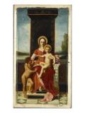 La Vierge trônant, avec l'Enfant Jésus et saint Jean-Baptiste Reproduction procédé giclée par Jacques Fernand Humbert