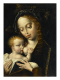 La Vierge et l&#39;Enfant Gicl&#233;e-Druck von Cleve Van