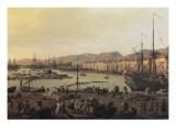 Troisième vue de Toulon, vue du vieux port, prise du côté des magasins au vivres Giclée-Druck von Claude-Joseph Vernet