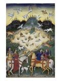 Traité de fauconnerie et de vénerie avec la devise et l'emblème du duc de Sforza Reproduction procédé giclée