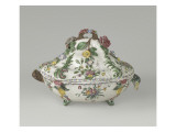 Tureen on Four Feet, Decorated with Flowers in Relief Giclee Print