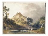 Deux jeunes femmes au bord d'un ruisseau Reproduction procédé giclée par Anthony Vandyke Copley Fielding