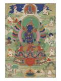 Vajradhara entouré de mahâsiddha Giclée-tryk