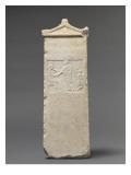 Stèle funéraire : scène de Dexiosis (geste conventionnel signifiant l'adieu) Reproduction procédé giclée