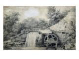 Moulin à eau Lámina giclée por Meindert Hobbema