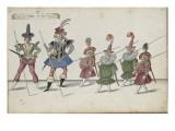 Album ; Ballet de la Douairière de Billebahaut et Ballet des fées des forêts de Saint Germain Giclee Print by Daniel Rabel