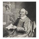 Vondel, poète hollandais Giclée-Druck von Cornelius de Visscher