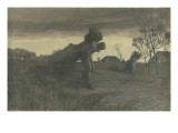 Le Dernier labeur du jour ou porteurs de fagots ou retour de la forêt Giclee Print by Giovanni Segantini