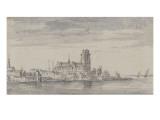 Vue de Dordrecht Giclée-Druck von Jan Van Goyen