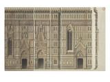 Quatre élévations (détails des fenêtres et des piles) et un profil de la ca Giclee Print by Eugène Viollet-le-Duc
