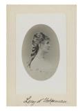 Jeune femme vue en buste, de profil,une tresse sur la nuque, (Eléonore d'Uckermann) Reproduction procédé giclée