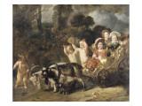 Enfants nobles (famille Trip) dans un char trainé par des chèvres (dit autrefois : les enfants de Lámina giclée por Ferdinand Bol