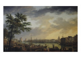 Vue du port de la Rochelle Gicl&#233;e-Druck von Claude-Joseph Vernet