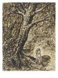L'heureux moment : couple nu, debout, enlacé sous des grands arbres Giclee Print by Théophile Alexandre Steinlen