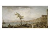 Vue du Golfe de Naples Reproduction proc&#233;d&#233; gicl&#233;e par Claude-Joseph Vernet