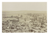 Village of Edfu, View from the Pylon of the Temple Giclee Print by Henri B&#233;chard