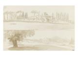 Deux vues de la villa Borghese Giclée-Druck von Pierre Henri de Valenciennes