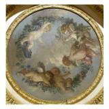 Plafond de la salle du Conseil à Fontainebleau Giclée-Druck von Jean-Jacques Lagrenée