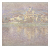 Vétheuil, soleil couchant Giclee Print by Claude Monet