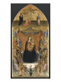 Virgin Enthroned with Ten Angels and Twelve Saints Giclee Print by de la pr&#233;delle de l&#39;Ashmolean Museum Ma&#238;tre