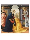 La Visitation entre Marie-Jacobie et Marie-Salomé Giclée-tryk af Domenico Ghirlandaio