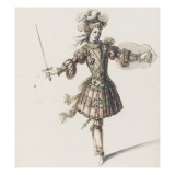 Tome III (1696 DR à 1761DR) : Costumes de fêtes et de mascarades. Théâtre d Giclee Print by Jean I Berain